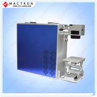 10W Portable Optical Fiber Laser Marking Machine For Wire Glasses Frame Button Watche Jewelry Bags Cookers