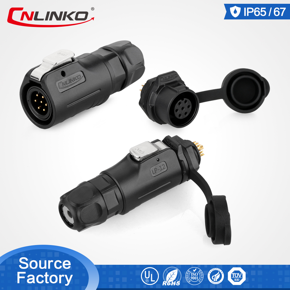 2-5 <font><b>Pin</b></font> M12 Waterproof Industrial Connector <font><b>Cable</b></font> Power IP65 DC Male Plug Female Socket Plastic for Medical with solid quality image