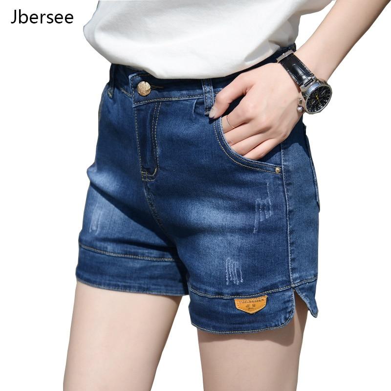 Fashion Summer Jeans Shorts New Korean Style Women High Waist Denim Shorts For Women Loose Plus Size Jeans Short Feminino