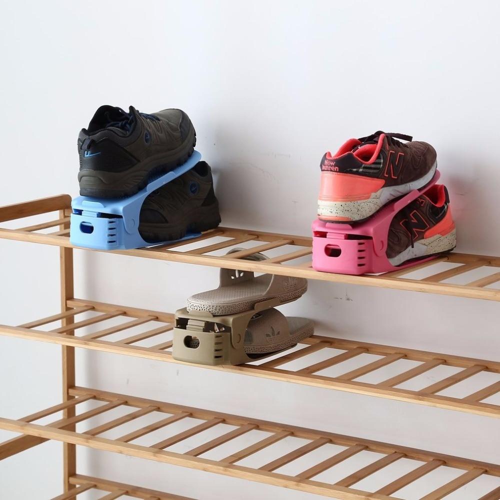 Fashion Shoe Racks Modern Double Cleaning Storage Shoes Rack Living Room Convenient Shoe ...