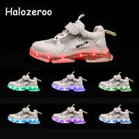 Autumn New Kids Casual Glowing Sneakers Baby Girls Led Shoes Toddler Boys Brand Sneakers Children Mesh Sport Sneakers Trainers