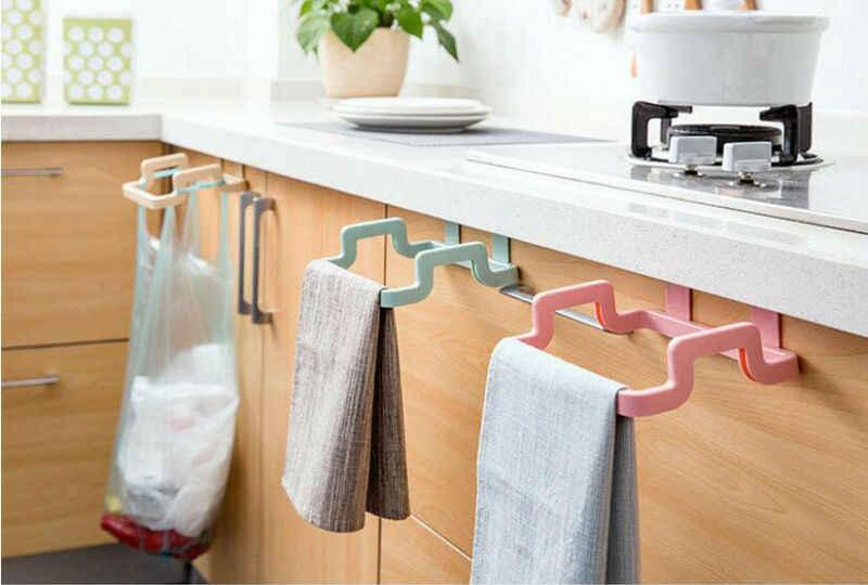 Kuchnia worek na śmieci uchwyty do przechowywania stojaki gablota wystawowa śmieci organizer na torby ręcznik domowy wiszący pojemnik produkty