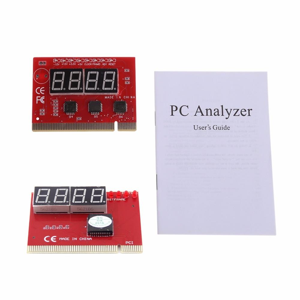 New Computer PCI POST Card Motherboard LED 4-Digit Diagnostic Test PC Analyzer T4ME DropShip 100 pcs ld 3361ag 3 digit 0 36 green 7 segment led display common cathode