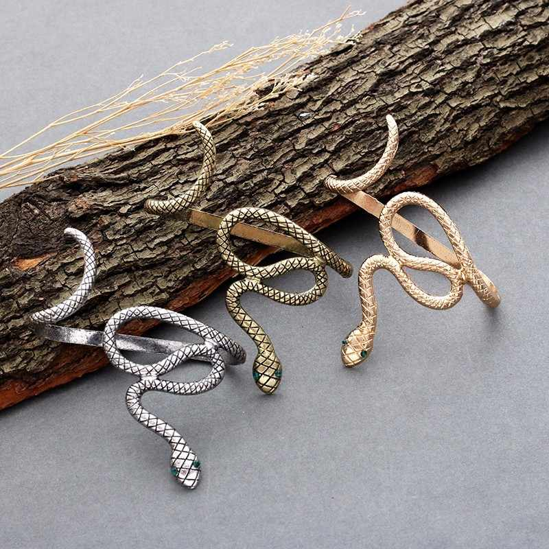 Free Shipping New Korean Pop Retro Exaggerated Doing The Old Palm Snake Bangle Bracelet-SZ001