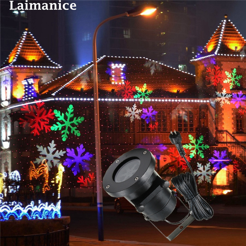 Waterproof Laser Projector Lamps LED Stage Light Christmas Landscape Garden Lamp Outdoor Lighting/pattern card недорого
