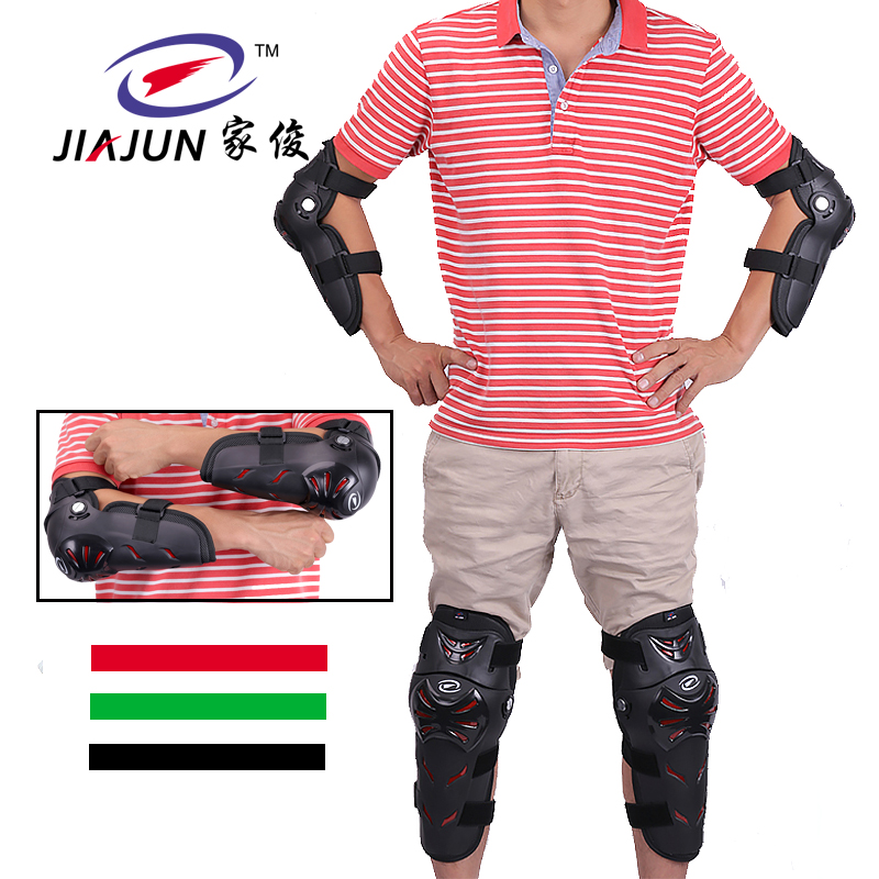 4pcs Paintball Airsoft Combat Protective Uniform Pants Tactical Knee and Elbow Protector Pads Set KNEE & ELBOW PADS