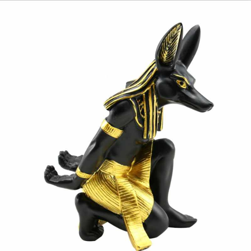Resin Anubis God Wine Rack Best Wine Bottle Holder Animal Egyptian Dog God  Wine Stand Accessories Home Bar Decor