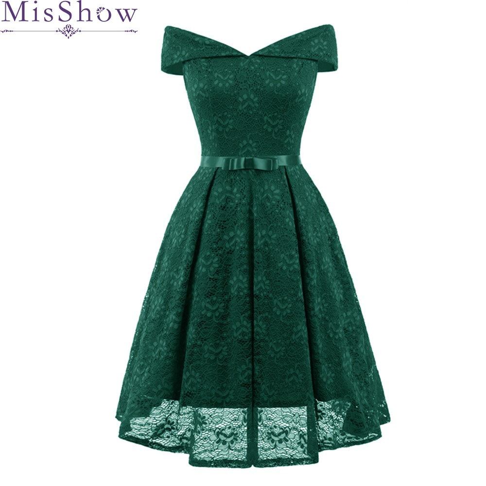 2019 Green Lace Off the Shoulder   Bridesmaid     Dresses   Elegant   Bridesmaid     Dress   Short V Neck   Dresses   for Wedding Party Vestido