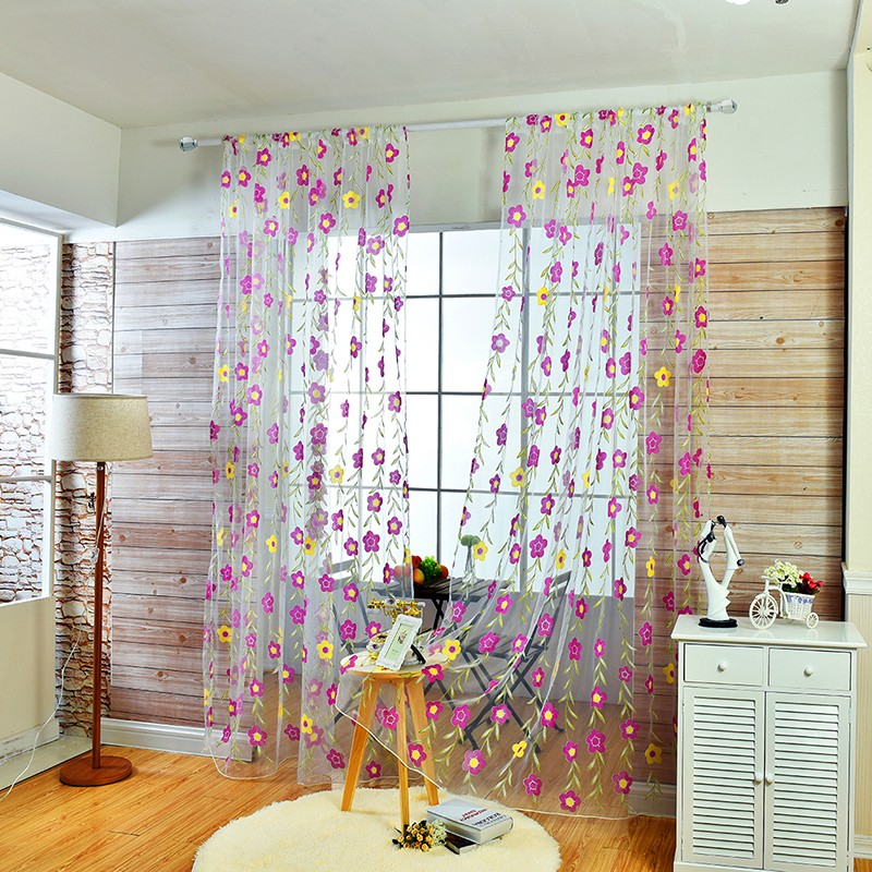 floral tulle sheer curtain (9)