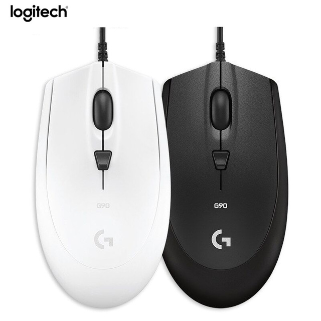 Logitech G90 Wired Gaming Mouse Laptop PC Gamer 2500dpi Switch USB Games Mouse logitech g100s usb wired 250 2500dpi optical gaming mouse black white 208 cable