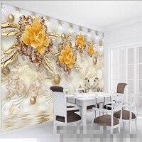 beibehang-wallpaper-mural-wallpaper-3d-luxury-gold-flower-soft-bag-ball-jewelry-tv-wall-background-wall-papel-de-parede