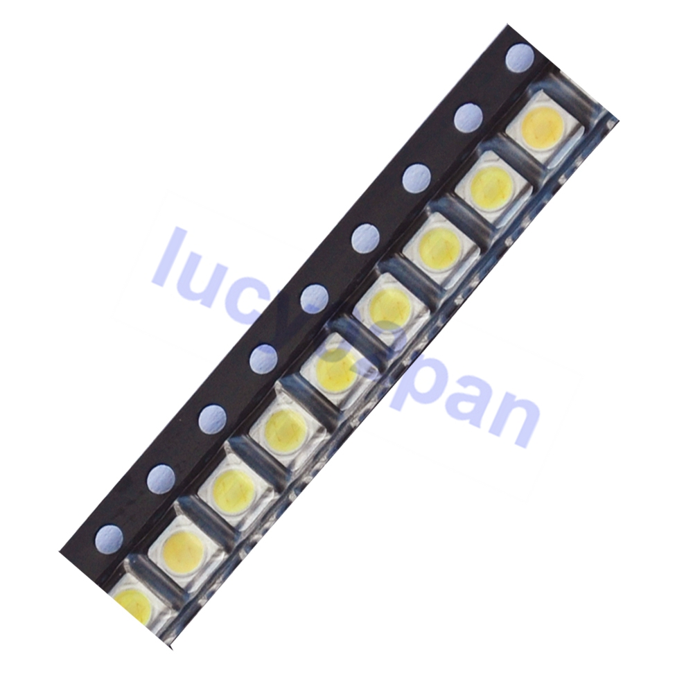 100PCS/LOT <font><b>LED</b></font> Backlight 1210 3528 <font><b>2835</b></font> <font><b>1W</b></font> <font><b>3V</b></font> 100LM Cool Cold white Light SMD lamp beads LCD Backlight for TV TV Application image