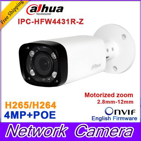 Dahua 4mp Night Camera IPC-HFW4431R-Z 80m IR with 2.7~12mm VF lens Motorized Zoom Auto Focus Bullet IP Camera