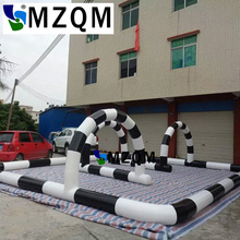 MZQM 8×8 m  Free shipping Toys Outdoor PVC material Inflatable go karts barriers race track for children