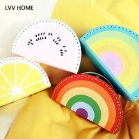 LVV HOME children multicolor toy storage box/ins hot ute rainbow watermelon suitcase child snacks boxes