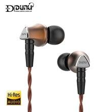 Dunu titan 6 titan6 t6 hi res berílio diafragma driver dinâmico de alta fidelidade áudio in ear fone de ouvido iem com mmcx cabo destacável