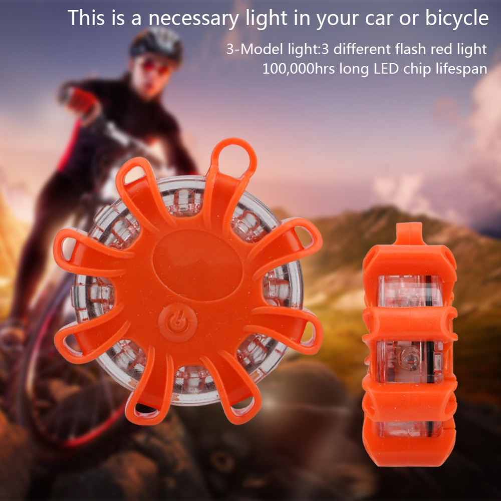 LED Road Flare Red Safety Flare Magnetic Flashlight 3 Modes Flashing Warning Light Emergency Flares Lantern Lamp For Car Marine