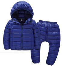 Children Goose Down jacket for Boys and Girl Autumn Winter Children Lightweight Warm Baby kid clothes 2-5years Set Pants Clothig kid clothes sets children winter autumn tracksuit thick jacket hoodie pants for boys girls warm suit set in stock