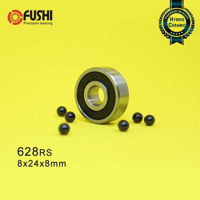 6801RS Black 12x21x5 mm QTY 10 6801-2RS HYBRID CERAMIC Si3N4 Ball Bearing