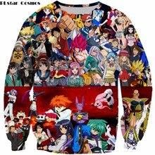 PLstar Cosmos Anime Harajuku Style Sweatshirt new style fashion hoodies  tops drop shipping Plus size S-5XL