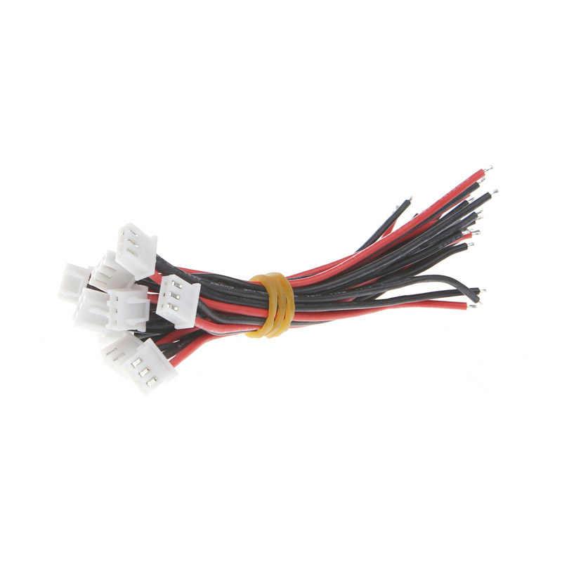 2S1P Lipo câble de chargeur d'équilibre de batterie 22 AWG fil de silicium JST XH Cnnector 10CM