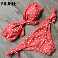 RUUHEE Bikini Swimwear Swimsuit Women 2018 Bikini Set String Bathing Suit Push Up Female Beachwear Strapless