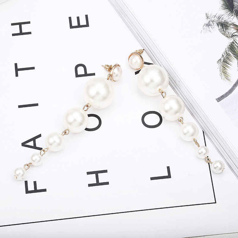 Elegante Temperament Frauen Klassische Ohrringe Lange Perle Ohrringe Europäischen Trendy Schmuck String Erklärung Partei Geschenke