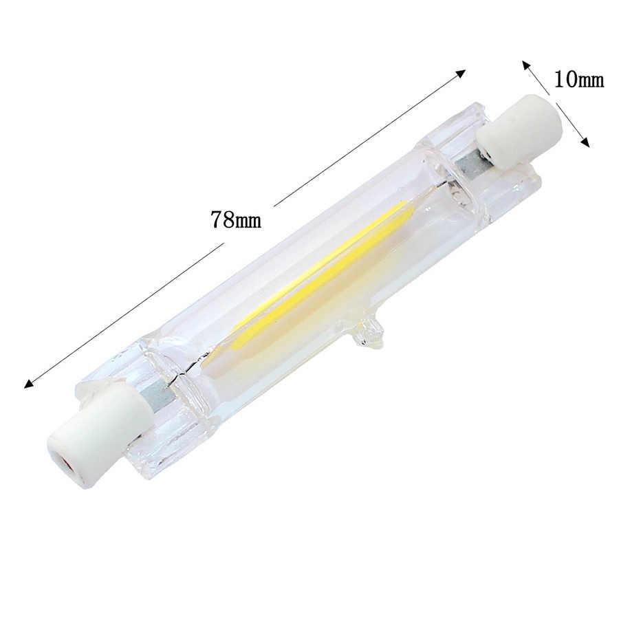 LED R7S 78mm 118mm Dimmable COB lámpara tubo de vidrio 4W 10W AC 220V 230V R7S reemplazo de proyector de halógeno lámpara luz ahorro de energía