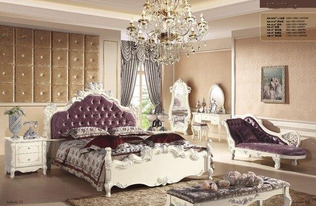 роскошные спальня мебель комплекты с кроватью королевский стул