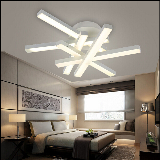 Led Lighting For Living Room Green Paint Colours Rooms Modern Chandelier Lamps White Light Warm Dining Lustre Chandeliers