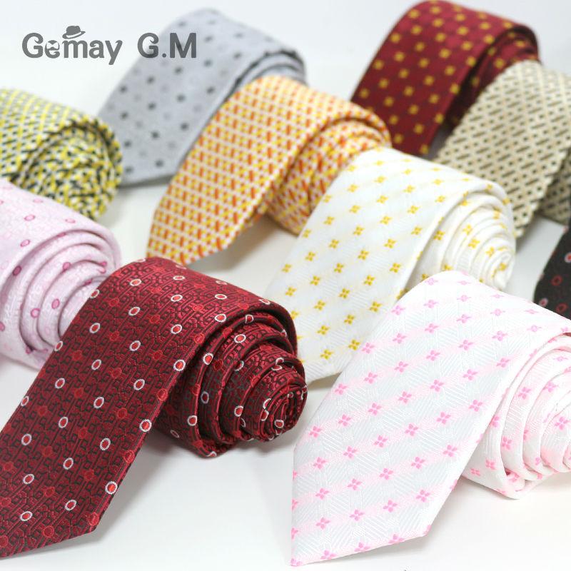 Jaunie 100% polietera žakarda austi kaklasaites vīriešiem 7,0 platums kaklasaite vīriešu oficiāls kāzu svinību kāzu kaklarotu vairumtirdzniecība