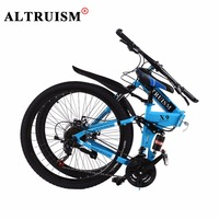 ALTRUISM X9 Mountain Bike Steel Mens Floding Bicycle 21 Speed 26 Inch Bicycles Bmx Double Disc