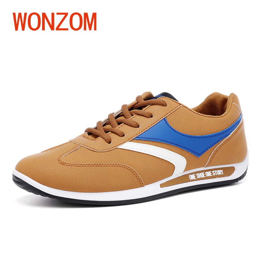WONZOM Fashion Men Casual Shoes Spring Autumn Breathable Flats Shoes Zapatillas Hombre Male Footwear Black 2018 New Arrivals spring autumn casual men s shoes fashion breathable white shoes men flat youth trendy sneakers