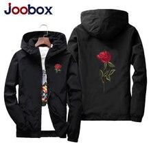 JOOBOX куртка-ветровка для мужчин wo Для мужчин Роза куртки для колледжа 2018 Демисезонный модная куртка Для мужчин; мужская куртка с капюшоном