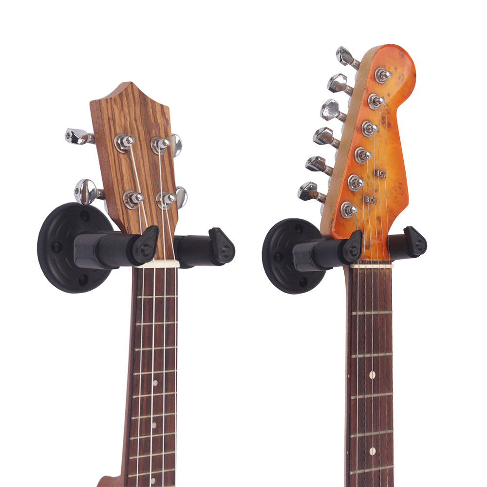 guitar wall mount hanger stand holder hooks display acoustic electric bass guitar hook holder. Black Bedroom Furniture Sets. Home Design Ideas