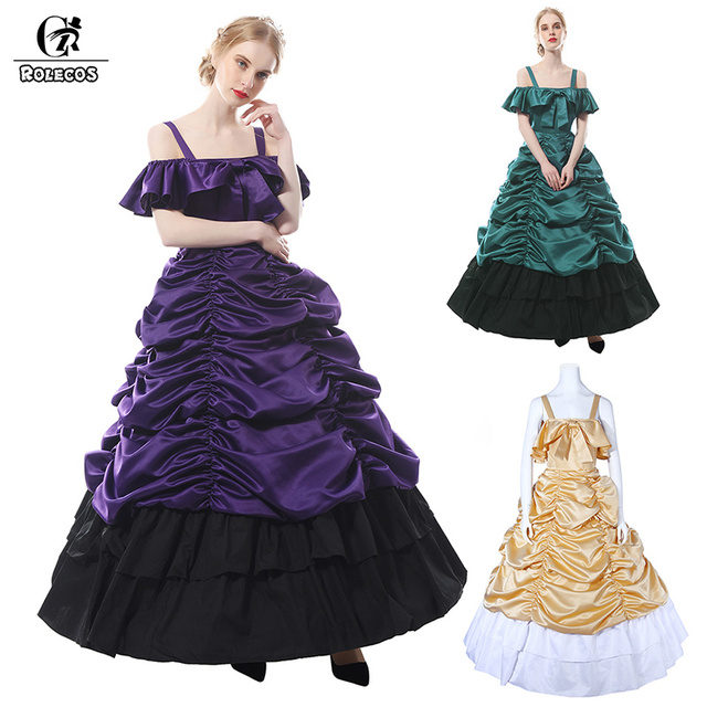 ROLECOS Mulheres Vestidos de Festa Longo Vestido Medieval Renascentista Vitoriana Lolita Princesa Traje Vestido Lolita Gótica para As Mulheres