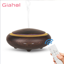 GIAHOL 150ml Aroma Essential Oil Diffuser Ultrasonic Air Humidifier With Wood Grain Remote Control LED Lights Aromatherapy