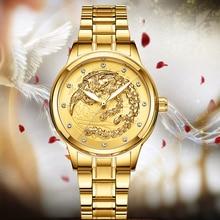 Gold Women Watch Rhinestone Dress Quartz Watch Ladies Top Brand Luxury Crystal F