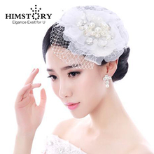 Vintage Bridal Birdcage Wedding Veil Party Headdress Tulle Flower Pearl Crystal Hairpins Accessory  Free Shipping