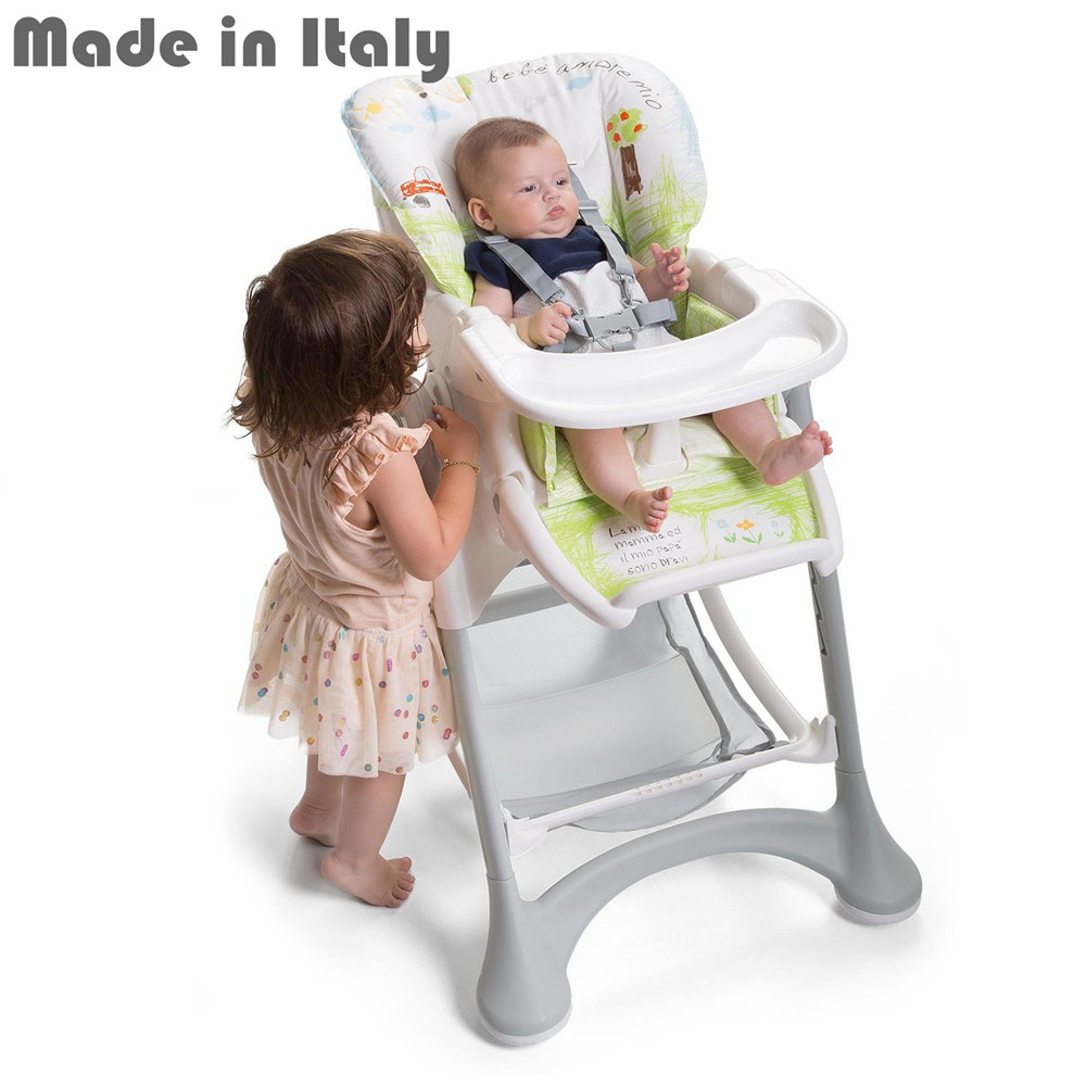 i-baby Campione Adjustable Folding Baby Booster Seat Portable Feeding High Chair Infant Seat Safety Belt Harness Seating System portable baby high chair booster seat kid infant baby dining lunch feeding chair plastic chair folding seggiolone portatile baby