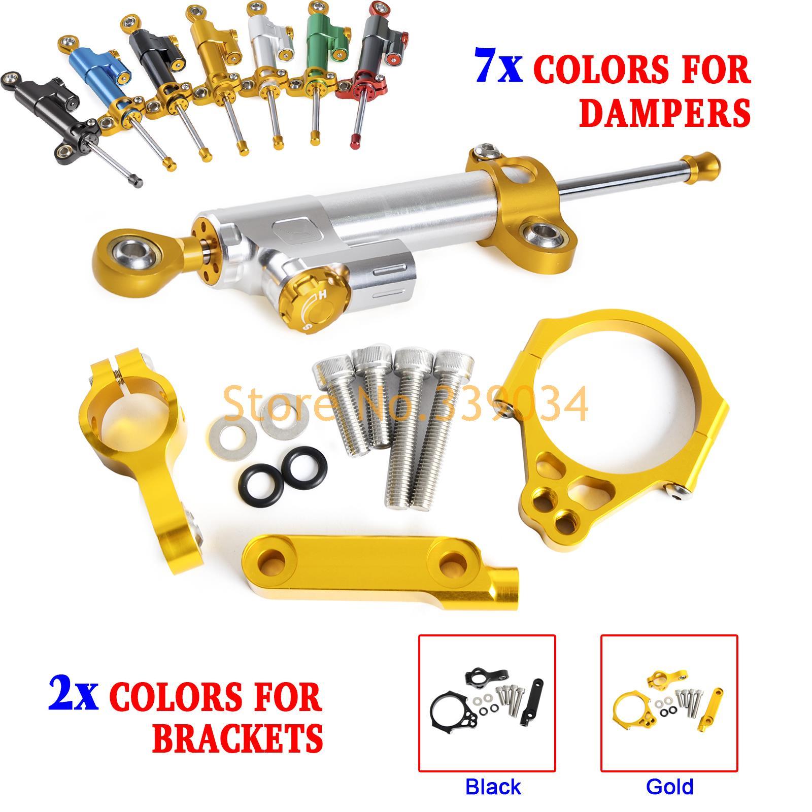 Motorcycle CNC Steering Damper Stabilizer & Bracket For Kawasaki  VERESYS 1000  2012 2013 2014 2015 2016 motorcycle cnc steering damper with bracket suport for kawasaki z800 2013 2014