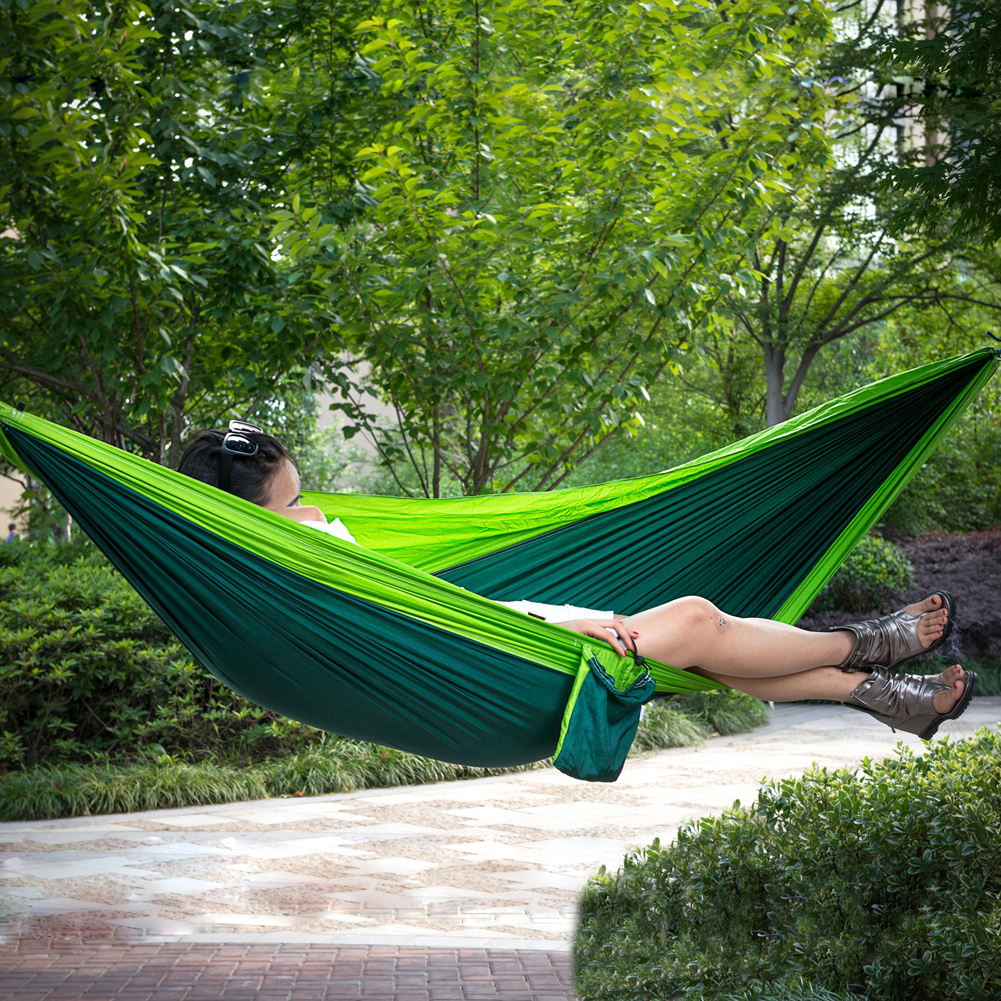 FF 2 Person 210t nylon shioze Hammock  Portable Parachute Garden Swing Camping Survival Gammak Base Sleeping Bed Outdoor Hamac furniture size hanging sleeping bed parachute nylon fabric outdoor camping hammocks double person portable hammock swing bed