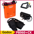 Godox PB960 Flash Battery Power Pack naranja 4500 mAh Withe Cable Cx para CANON 580EX II 430EZ 540EZ 550EX YN560 Speedlite