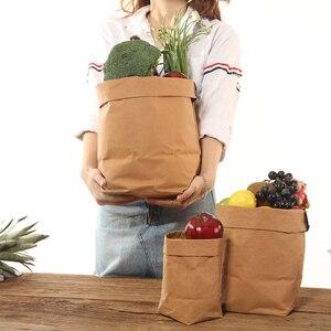 Torby do przechowywania papieru Kraft zmywalne rośliny warzywa powiększająca torba doniczka torba kosz doniczka pokrywa odzież dla dzieci zabawka organizator