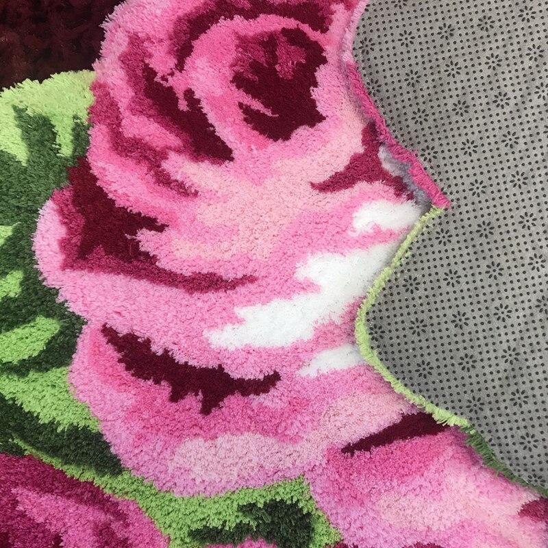Haute qualité luxe 3d rose tapis chambre tapis maison salon mariage amant fleur tapis salon art tapis de sol doux 200*120cm - 6