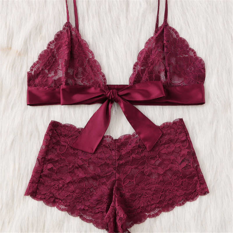 90e3799107b7b Detail Feedback Questions about Women Wine Red Lace Sexy Bra Panties ...