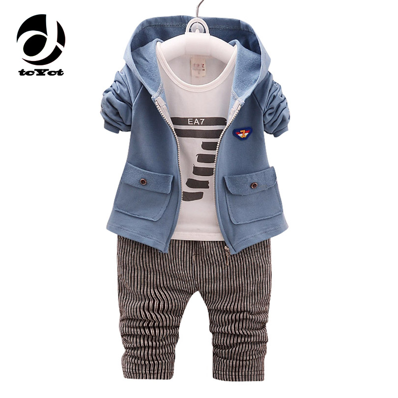 tcYct 2017 new spring and autumn models baby cotton Korean boys and girls suits baby suit three sets 2017 new cartoon pants brand baby cotton embroider pants baby trousers kid wear baby fashion models spring and autumn 0 4 years