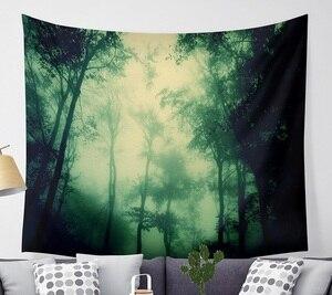 Image 2 - CAMMITEVER Magische Fantastische Wald Wandteppich Hängen Rechteck Wand Hängende Tapestry Dekoration Wand Stoff Wandteppiche