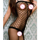Sexy Big Mesh Bodystockings Crotchless Lingerie Fishnet stocking for women Hot sexy club wear Teddy lingerie