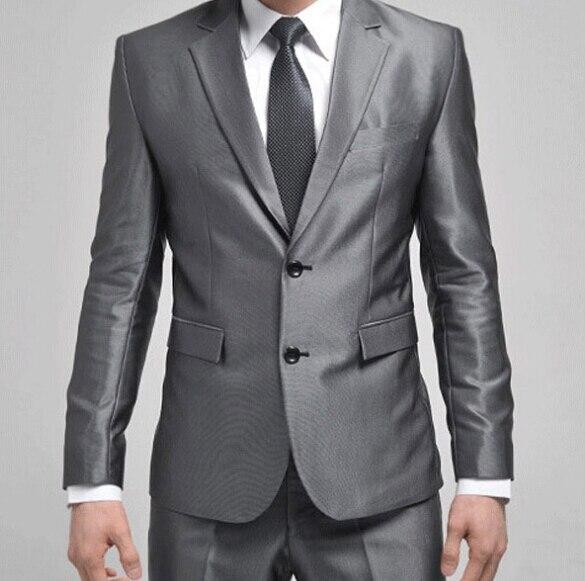 b3d44c1fb 2015 Four Seasons Stylish Mens Slim Fit Formal Suit/Suits Two-Button Suit  Set Jacket Casual Coat & Pant 3 Colors Plus size